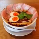 田中の中華そば - 特製中華そば(チャーシュー3枚・味玉 1,150円) 麺大盛り +150円