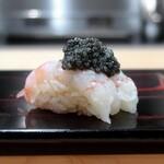 Kitahamasushiyamano - 牡丹海老 キャビア乗せ