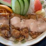 鳥料理 由布 - ワンダーチキン(南蛮)のアップ