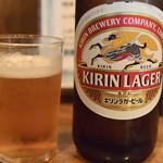七輪呑家里估 - ビール中瓶