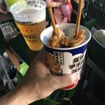 阪神甲子園球場 - 甲子園鉄板メニュー・焼鳥&生ビール
