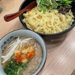 小麦と肉 桃の木 - つけ麺 背脂生姜醤油 1000円