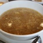 中国料理 久田 - 蟹肉入りふかひれスープ