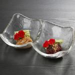 Sushi&Bar 琴 - 記念日コースの珍味梅水晶と梅海月(※仕入れの状況により、お写真と内容が異なる場合がございます。お問い合わせ下さい)