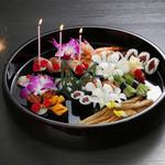 Sushi&Bar 琴 - 記念日コースのにぎり。1年に1度の特別な日を素敵に演出致します。(※仕入れの状況により、お写真と内容が異なる場合がございます。お問い合わせ下さい)