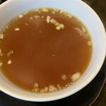 熊猫飯店 - チャーハンに付くスープ
