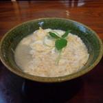 志蕎庵 江月 - 湯葉の卵とじ蕎麦(熱々で美味しいです)