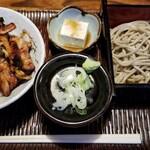 そば屋 きしち - 料理写真:鳥丼セット