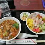 中国料理 江陽 - 冷やし中華、豚角煮丼ミニセット(700円)