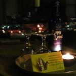 15618857 - 夕食から戻るとサービスのキャンドルとお酒が♪