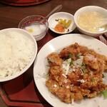 中華料理 華景園 - 油淋鶏(定食) ¥700