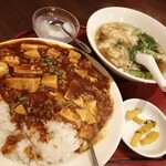 中華料理 華景園 - 麻婆丼とワンタン ¥900