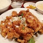 中華料理 華景園 - 油淋鶏アップ