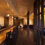 紫陽花珈琲 - 2Fには暖炉もあり、寒い季節には温かい火が灯ります。