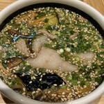 156190599 - オリーブ豚のつけ麺(つけ汁)