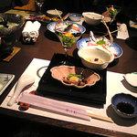碧き凪ぎの宿 明治館 - 料理写真:夕食全景