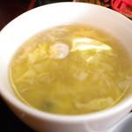 おやじの厨房飲楽食朗 - 玉子スープ