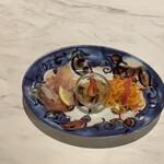 156252801 - 生ハム、タコとじゃがいもトマトのマリネ、キャロットラペ
