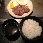 広島 - 牛ヒレステーキ定食(120g)