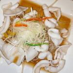 上海料理 寒舎 - ヤリイカともやしのネギソース添え