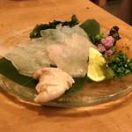 肴や味泉 - カワハギ と 肝 (2012.11)