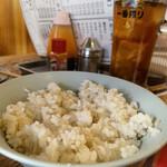 ホルモン鶴松 - 麦飯と烏龍茶