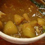 桃天花 - ゴマカレー付け麺(大)¥880