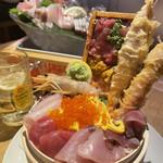 海風土 - 海風丼と刺盛