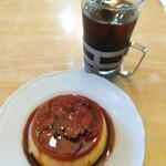 ロージナ茶房 - ■カスタードプディング ■アイスコーヒー