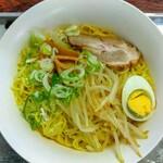 星川製麺 彩 - 冷や味噌ラーメン+麺2倍