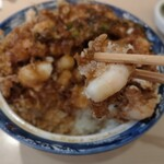 156333069 - スペシャルかき揚げ丼                       海老はプリプリに揚がっていて美味しい!