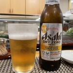 寿しの勘一 - 一見さんなのでノンアルのビールに、、、