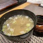 寿しの勘一 - しじみの味噌汁