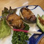 魚将 さかなちゃん - ながらめ(とこぶし)の味噌焼き。アワビそっくりの食感♡甘く柔らかく美味しい!