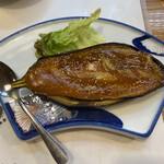 魚将 さかなちゃん - 茄子田楽。お味噌が美味しくて味噌被りです( ̄▽ ̄;)