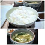 串匠 - ◆ご飯も美味しい。お代わり自由。 ◆お味噌汁も、お代わり自由。