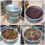 串匠 - ◆3種類の「ふりかけ」が用意されていますので、ご飯を沢山召し上がりたい方にもいいですね。 「梅ちりめん」「鰹ふりかけ」「ゆかり」など。