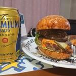 ビストロ カリーノ - 十勝産羊肉のハンバーガー 1,728円(税込)