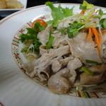 どん亭 - 豚肉ネギ塩だれ炒め定食