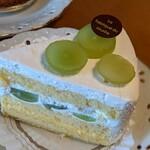 ラ ファブリック デュ スリール - シャインマスカットのショートケーキ