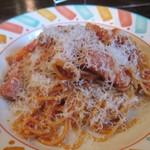15636700 - 玉ねぎとベーコンのトマトソーススパゲティ