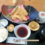 海鮮レストラン千将 - 料理写真:天ぷら定食 \1,000