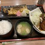 佐海たちばな - トロ鯖塩焼きとコロッケの定食