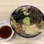 煮干しらーめん 田中にぼる - 特製わさび丼(350円)