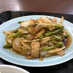 ラーメン北海 - 料理写真:蒜苗炒定食