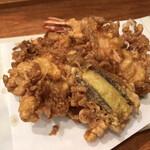 蔵前いせや - 天ぷら竹(大海老・鱚・貝柱かき揚げ・茄子)