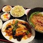 三福源 - 酢豚定食(980円) 選択できるラーメンは「台湾ラーメン」にしました