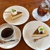 カフェ ジェルム - 料理写真:チーズケーキ、ホットコーヒー、アイスコーヒー