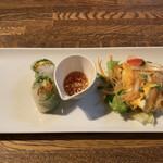 タイ料理 スワンナプームタイ - 生春巻き&玉子のサラダ♪
