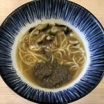 煮干しらーめん 田中にぼる - 煮干し塩+特製にぼり(ニボリサンブ)